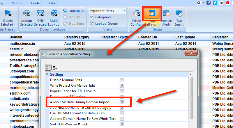 Enable CSV Data Import
