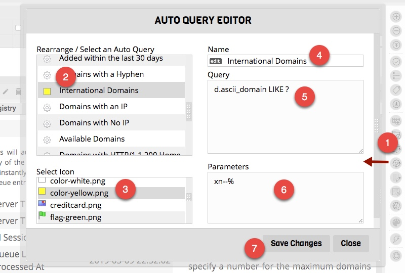 Domain Auto Query Filters